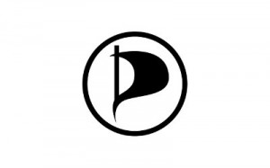 piratepartylogo 300x187 Piratpartiet åpner postkontor for The Pirate Bay