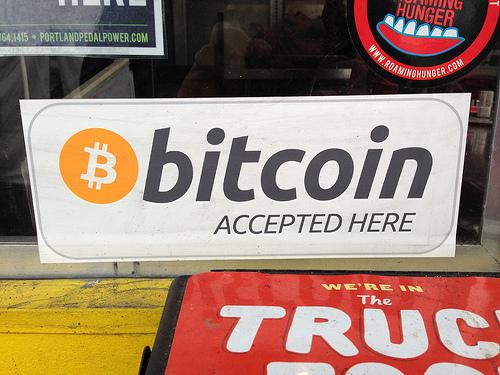 Vi aksepterer Bitcoin